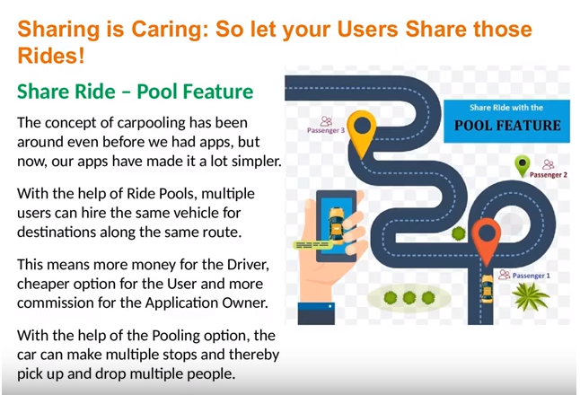 Uber Pool Feature & Hotel Ride Booking in Uber Clone