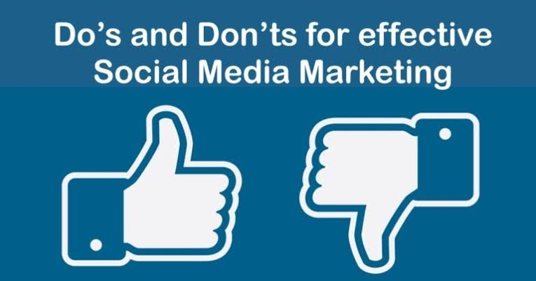 Social Media Marketing- DO and DON'T Things To keep In Mind