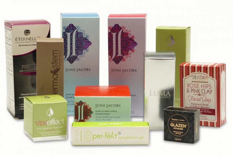 cream boxes packaging