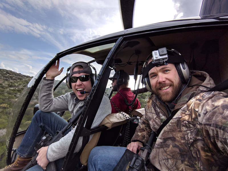 Planning a Bachelor Party doing Helicopter Hog Hunting